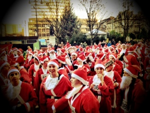 Santa Dash 2012 in Glasgow