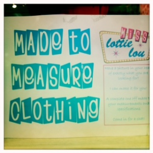 Miss Lottie Lou - made to measure clothing